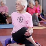 With over 30 years of yoga practice, new centenarian Jean Dawson is still going strong! Photo credit: Lorne Campbell/Guzelian